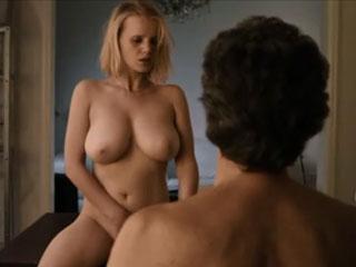 Извращенный секс с грудастой блондинкой
