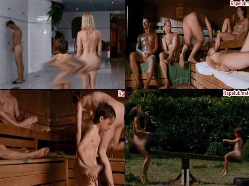семьёй голые в бане